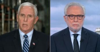 CNN's Wolf Blitzer interviews Vice President Mike Pence on April 1, 2020.