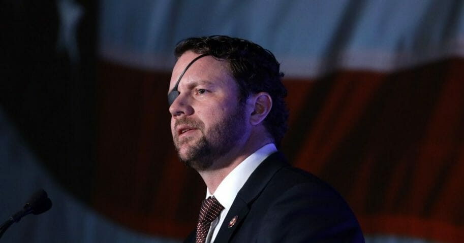 Republican Rep. Dan Crenshaw of Texas speaks at the annual Conservative Political Action Conference on Feb. 26, 2020, in National Harbor, Maryland.