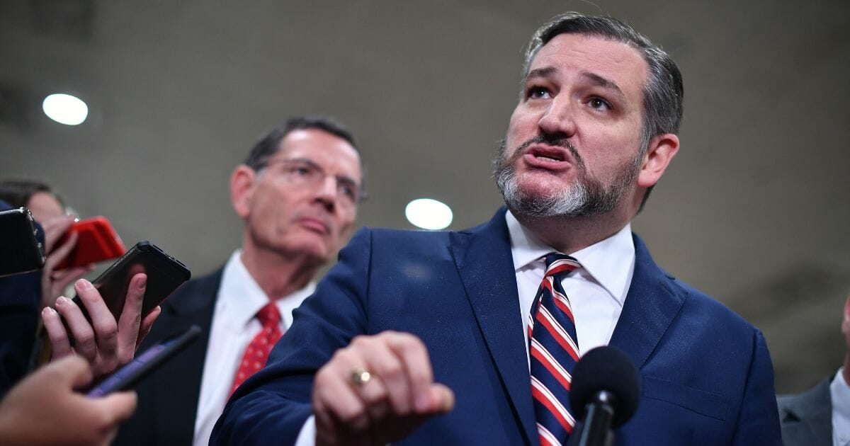 Texas Sen. Ted Cruz, pictured in a file photo in the Capitol in January.