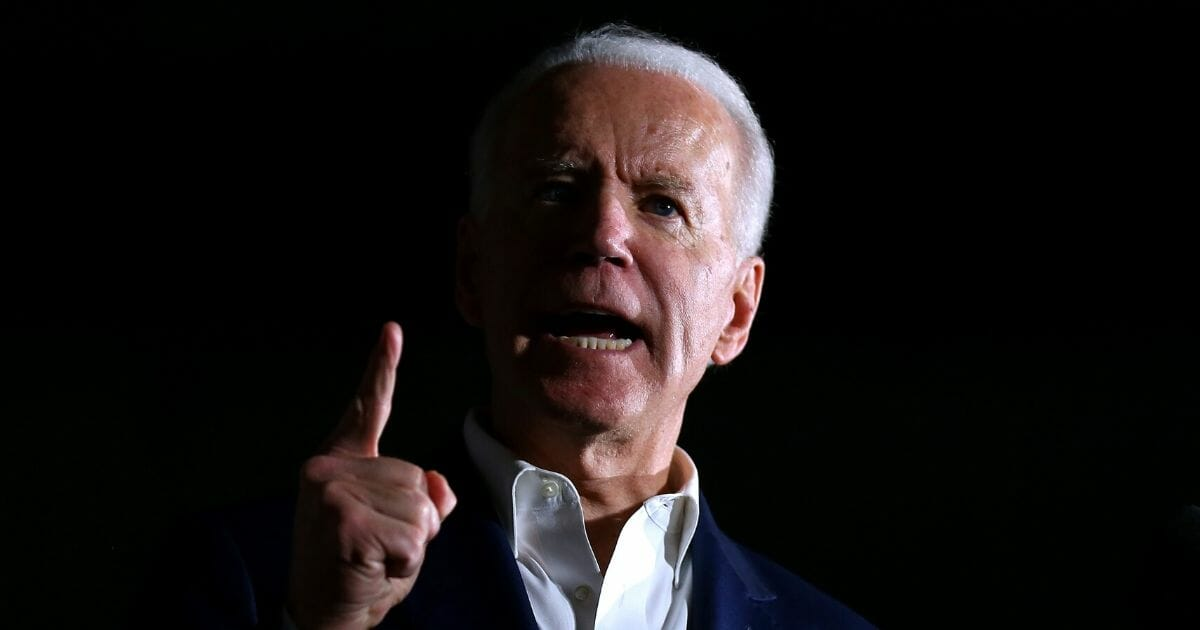 Presumptive Democratic presidential nominee former Vice President Joe Biden speaks during a campaign event at Tougaloo College on March 8, 2020, in Tougaloo, Mississippi.