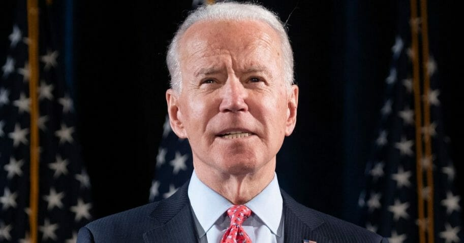 Former Vice President Joe Biden is pictured in file photo from March in Wilmington, Delaware.
