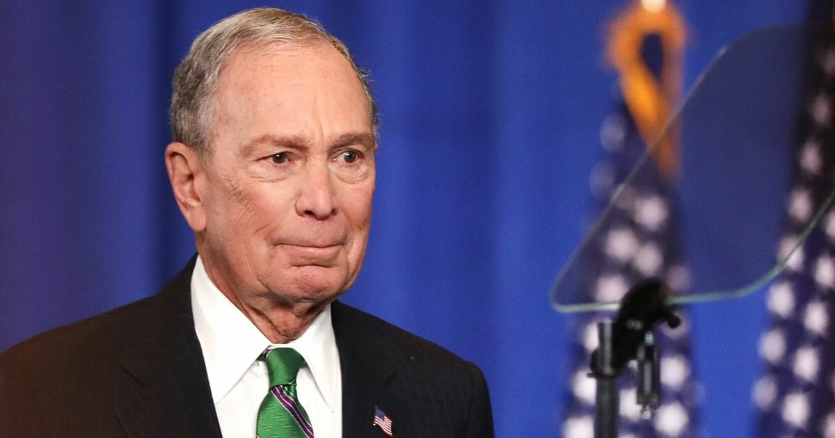 Former Democratic presidential contender Mike Bloomberg addresses his staff and the media March 4 after announcing he was ending his campaign for the Democratic presidential nomination.