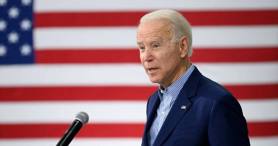 Former Vice President Joe Biden, the presumptive Democratic nominee for president, speaks at a town hall meeting in Sumter, South Carolina, on Feb. 28, 2020.