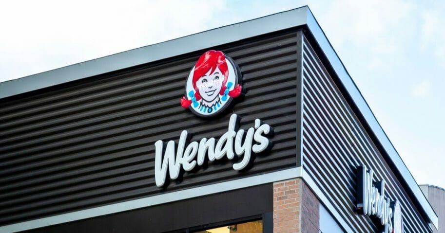 A sign on a Wendy's restaurant in Niagara Falls, Ontario, Canada.
