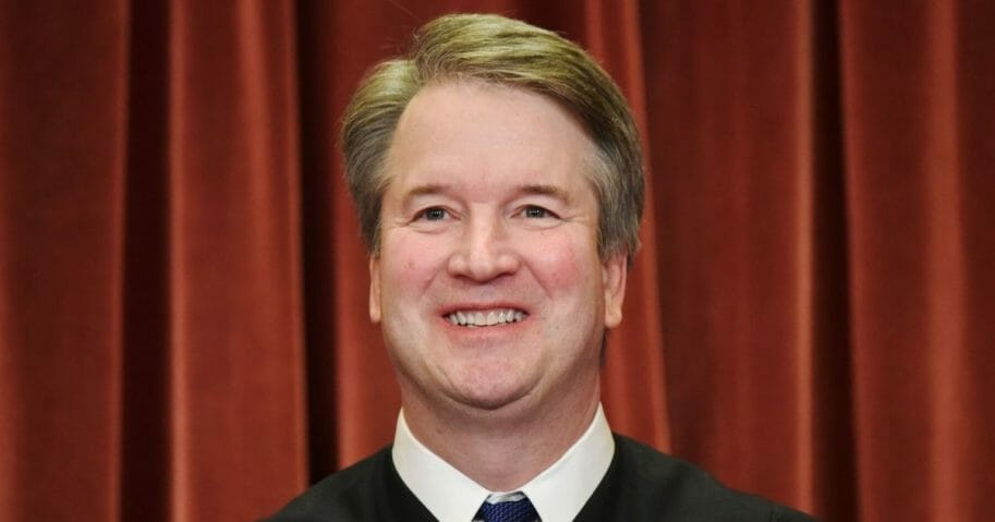 Supreme Court Justice Brett Kavanaugh poses in the official group photo at the Supreme Court in Washington, D.C. on Nov. 30, 2018.