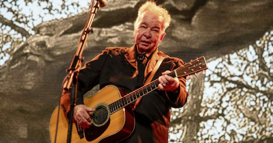 John Prine performs at the Bonnaroo Music and Arts Festival in Manchester, Tennessee, on June 15, 2019.