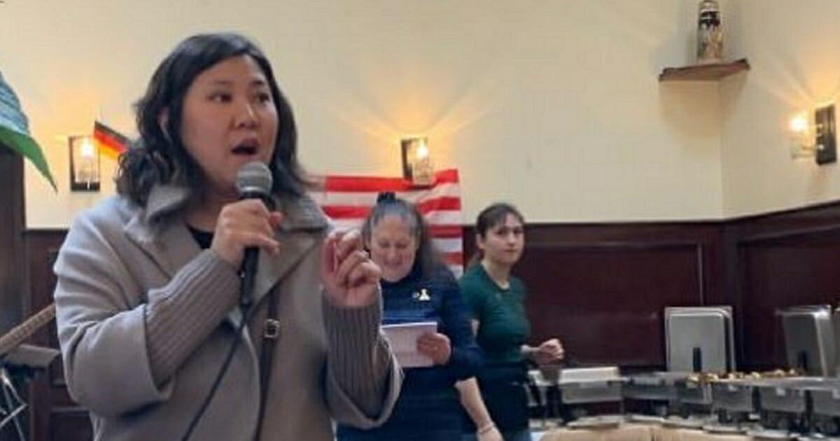 Rep. Grace Meng speaks in a December Facebook post.