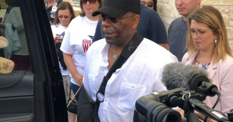 Former Florida Republican Rep. Allen West is at home and healing following a motorcycle accident, but says he is on the mend and credits God with saving his life.
