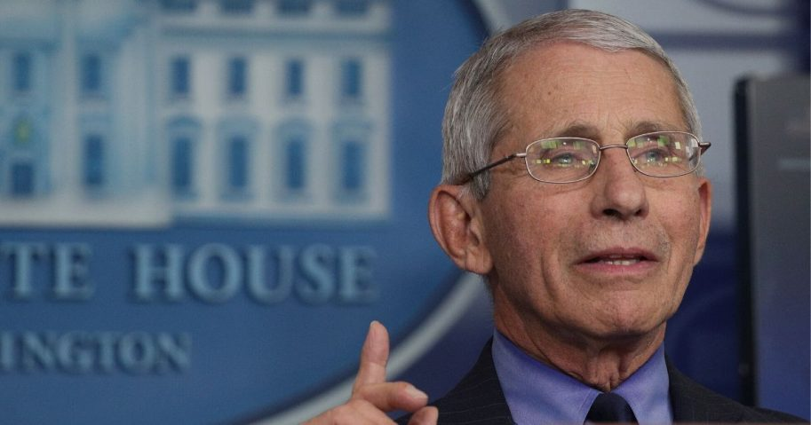 Dr. Anthony Fauci, director of the National Institute of Allergy and Infectious Diseases, speaks during the daily briefing of the White House coronavirus task force, at the White House on April 17, 2020, in Washington, D.C.