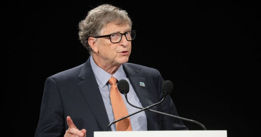 Bill Gates delivers a speech at the conference of Global Fund to Fight HIV, Tuberculosis and Malaria on Oct. 10, 2019, in Lyon, central eastern France.
