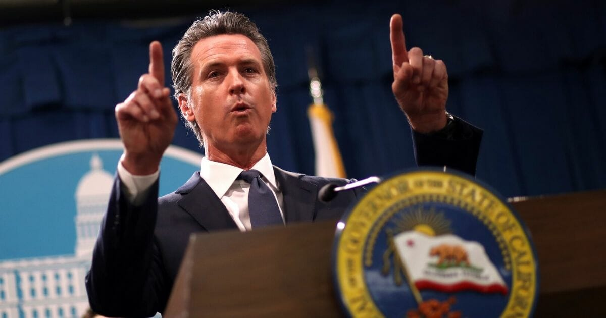 California Gov. Gavin Newsom speaks during a news conference at the California State Capitol on Aug. 16, 2019, in Sacramento, California.