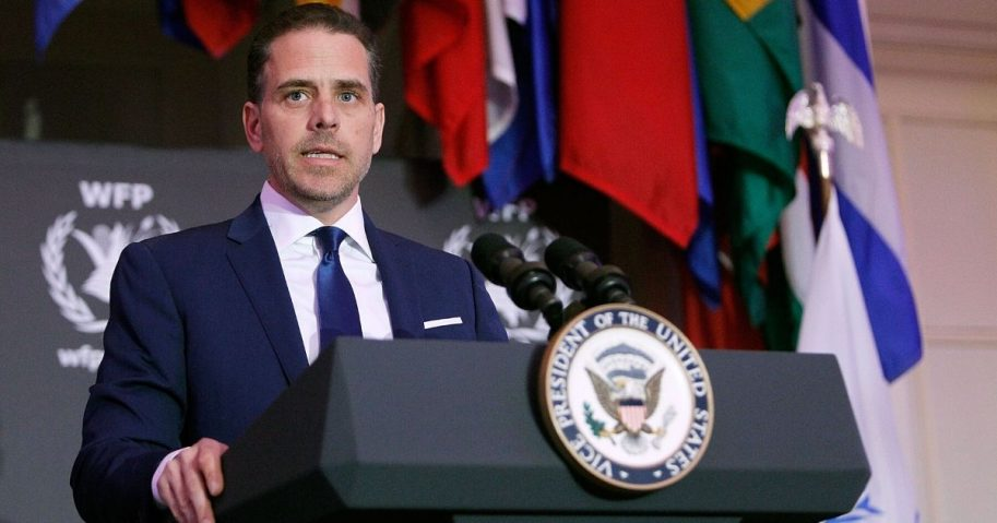 Hunter Biden speaks at the World Food Program USA's Annual McGovern-Dole Leadership Award Ceremony at the Organization of American States on April 12, 2016, in Washington, D.C.