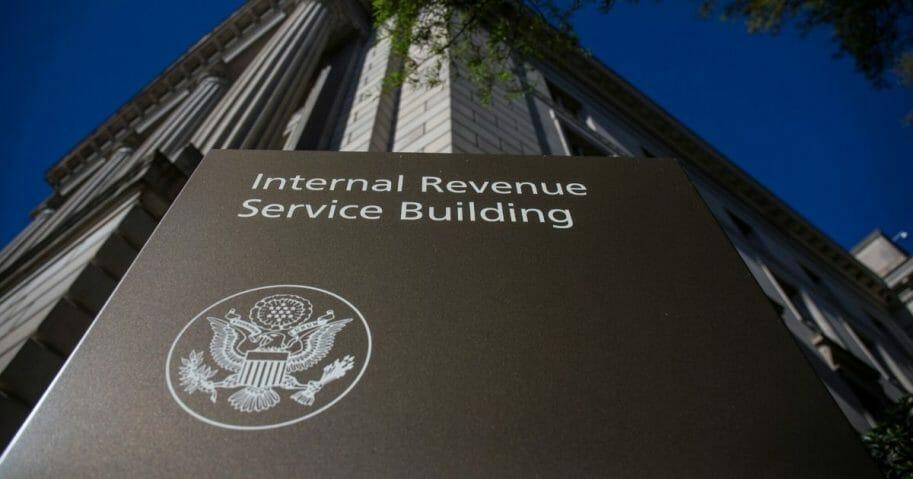The Internal Revenue Service building stands on April 15, 2019, in Washington, D.C.