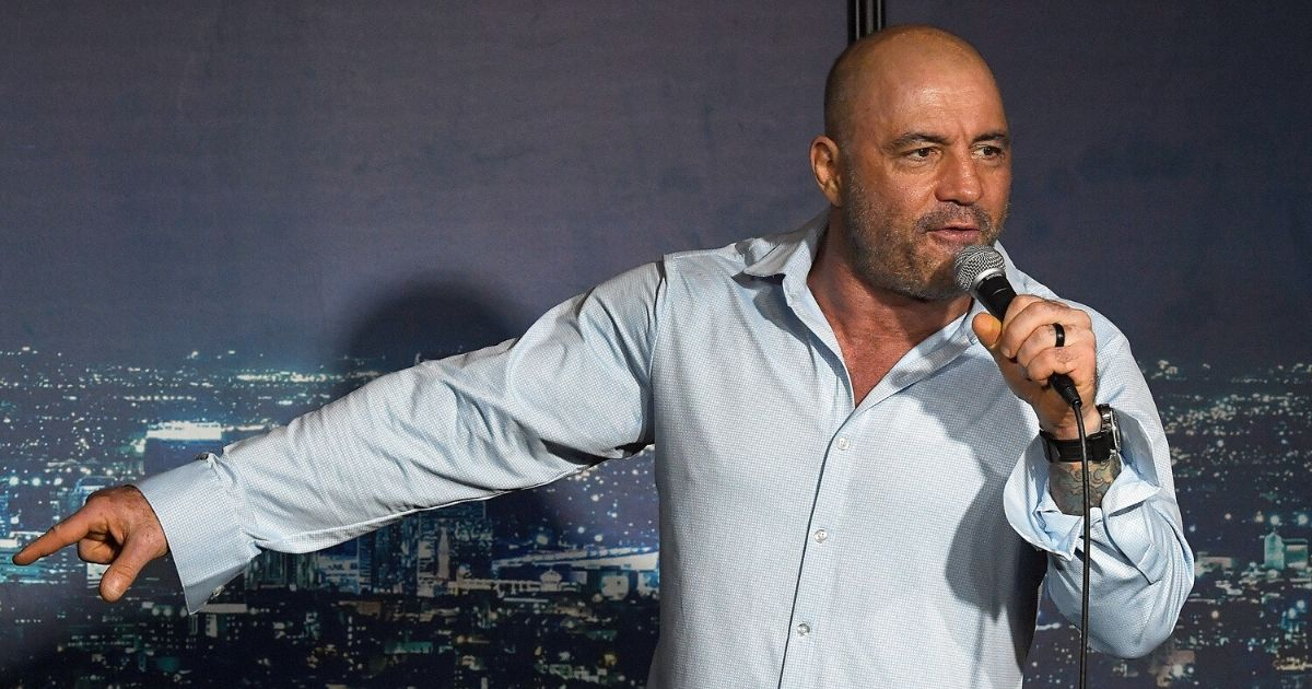 Joe Rogan performs during his appearance at The Ice House Comedy Club on April 17, 2019, in Pasadena, California.