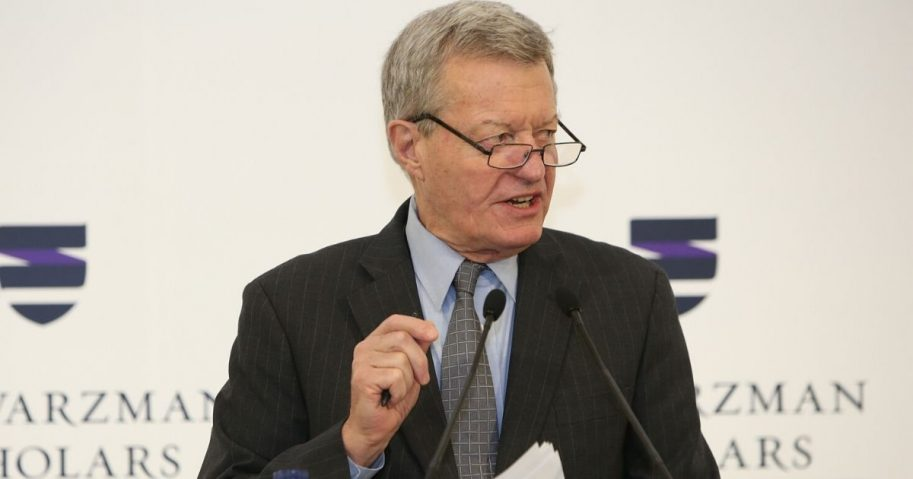 Max Baucus, then the U.S. ambassador to China, speaks on Sept. 10, 2016, in Beijing, China.