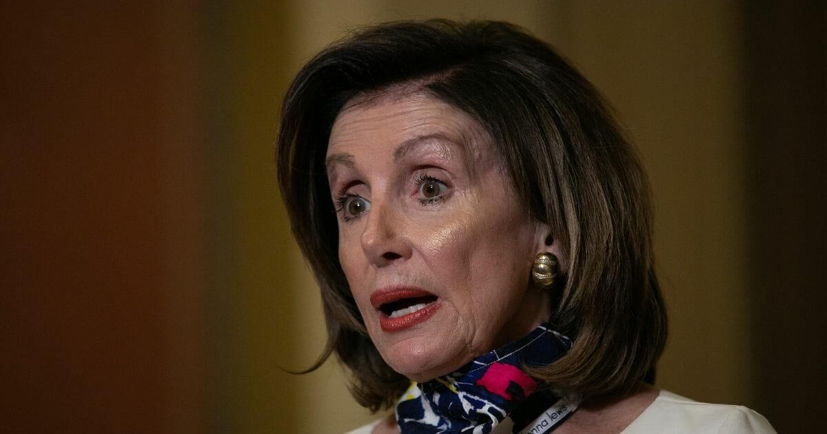 House Speaker Nancy Pelosi delivers a statement on the Heroes Act aid package introduced by House Democrats on May 12, 2020, on Capitol Hill in Washington D.C.