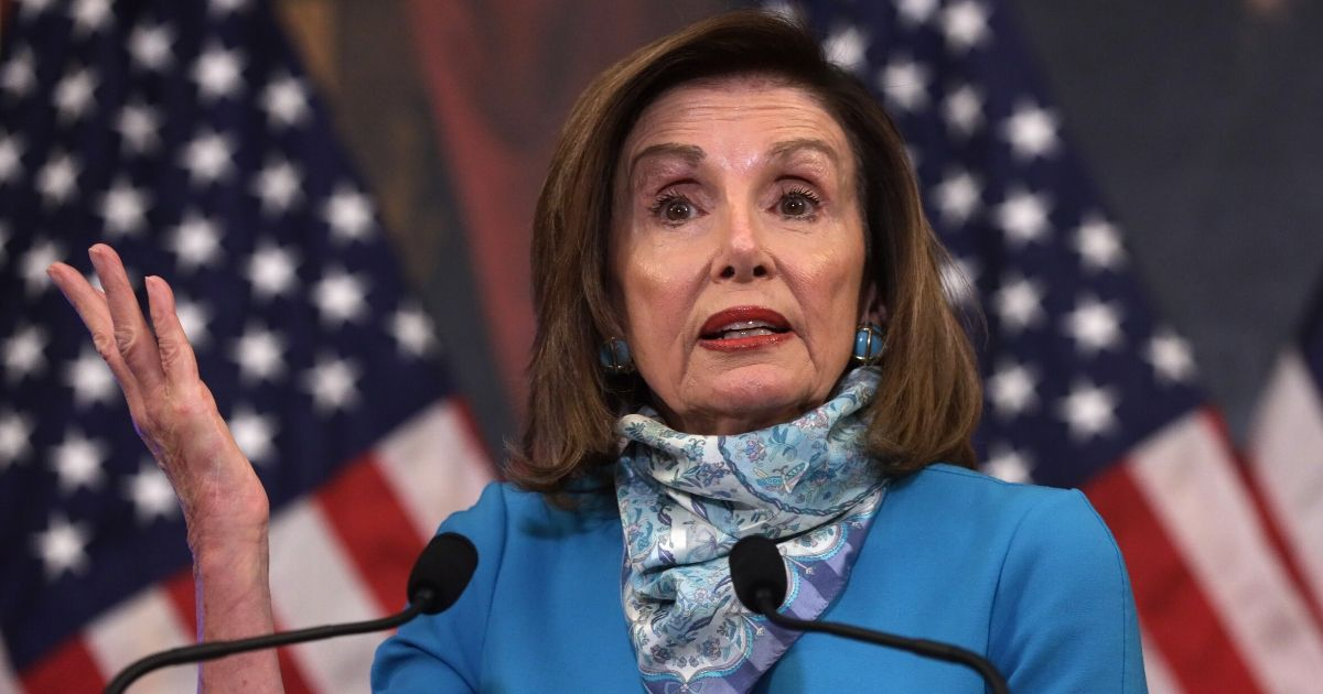 Speaker of the House Rep. Nancy Pelosi (D-California) speaks during a weekly news conference at the U.S. Capitol on May 7, 2020, in Washington, D.C.