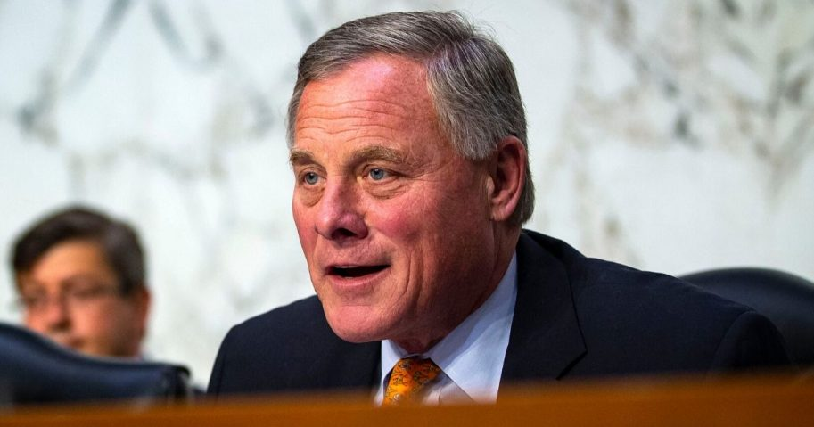Sen. Richard Burr (R-North Carolina), chairman of the Senate Intelligence Committee, speaks during a hearing on Capitol Hill on July 25, 2018, in Washington, D.C.