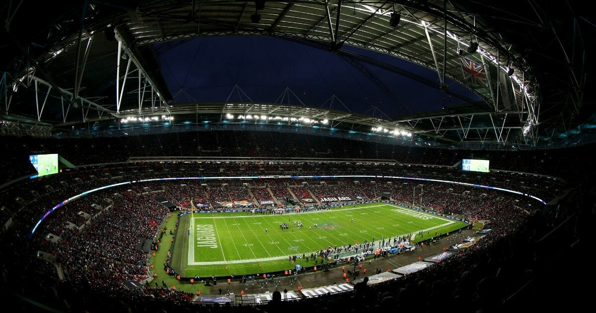 The Houston Texans take on theJacksonville Jaguars at Wembley Stadium in London on Nov. 3, 2019.