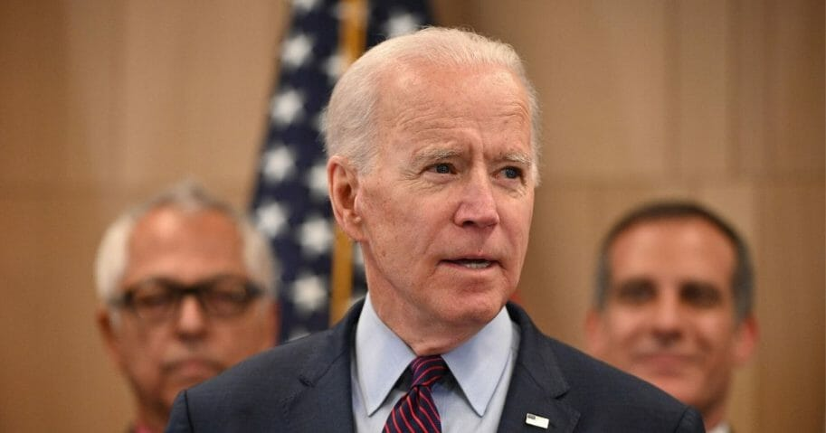 Former Vice President Joe Biden, the presumptive Democratic nominee for president, delivers remarks in Los Angeles on March 4, 2020.