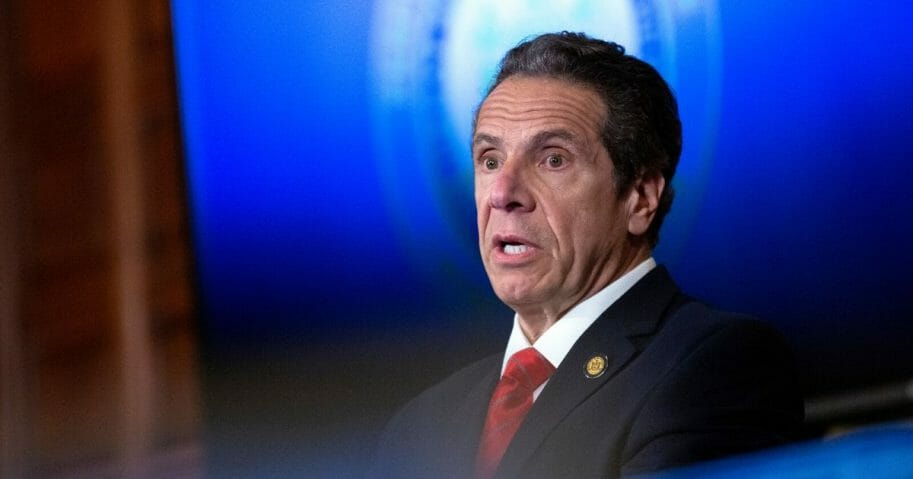 New York Gov. Andrew Cuomo speaks during his daily media briefing on May 1, 2020, in Albany, New York.