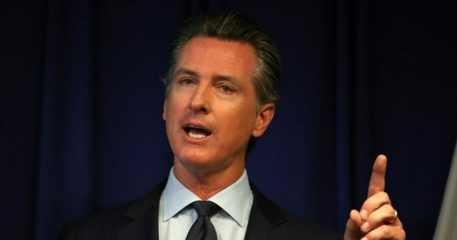 California Gov. Gavin Newsom speaks during a news conference at the California Justice Department on Sept. 18, 2019, in Sacramento, California.