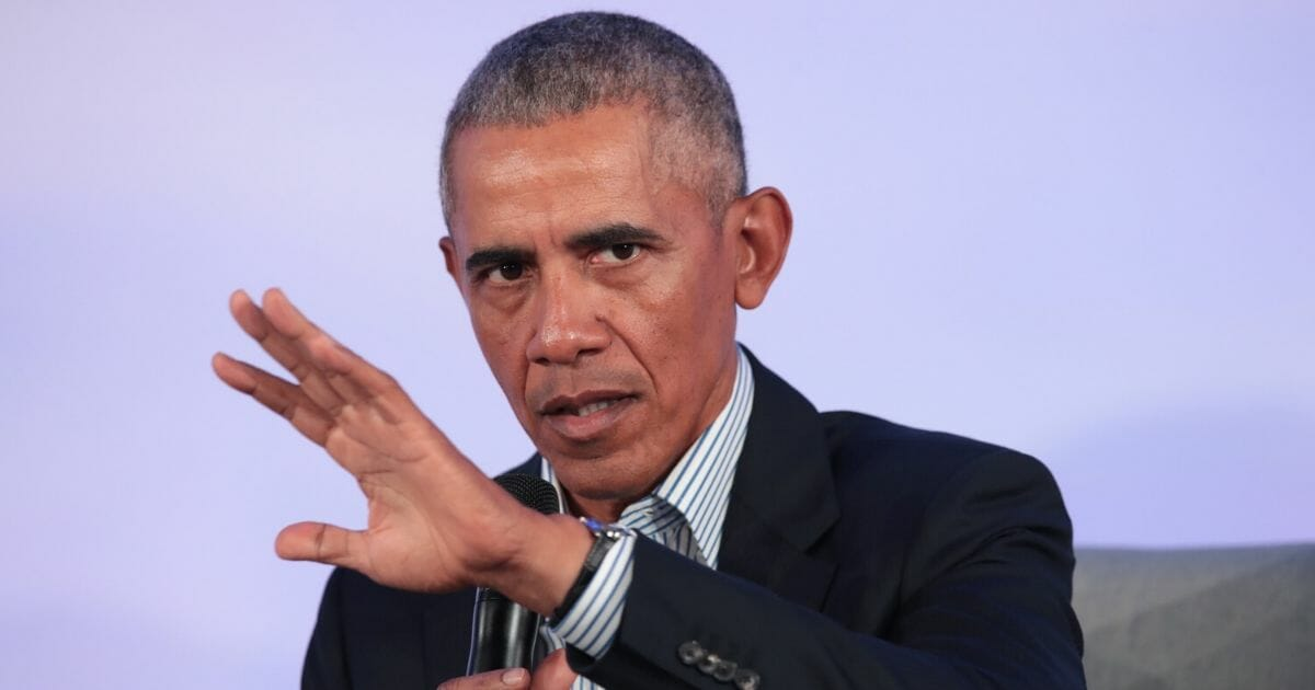 Former President Barack Obama is pictured in a file photo from Octoberat theIllinois Institute of Technology in Chicago.