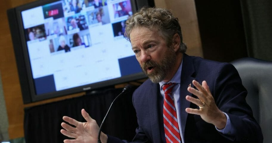 Kentucky Republican Sen. Rand Paul speaks Wednesday during a Senate Health, Education, Labor and Pensions Committee hearing on Capitol Hill.