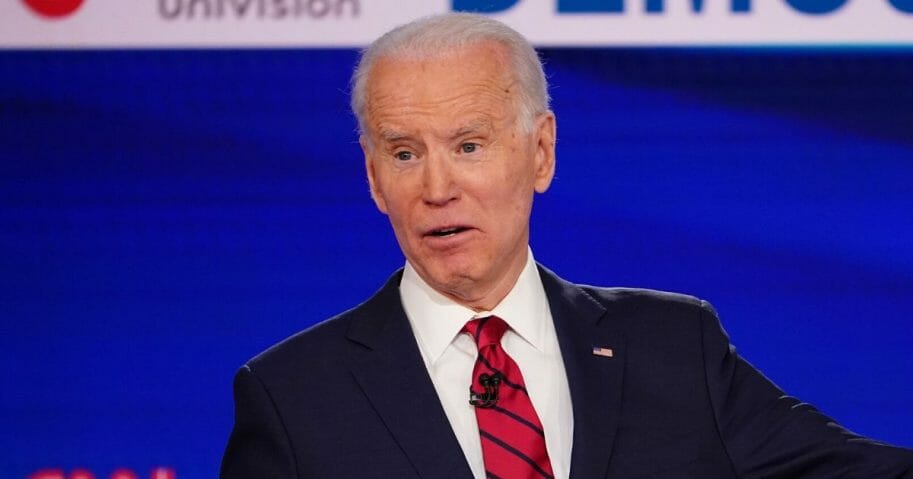Former Vice President Joe Biden, pictured on stage during a March 15 debate with Vermont Sen. Bernie Sanders, is likely to be facing more questions about what he knew and when he knew it when it comes to the investigation of former Trump National Security Advisor Michael Flynn.