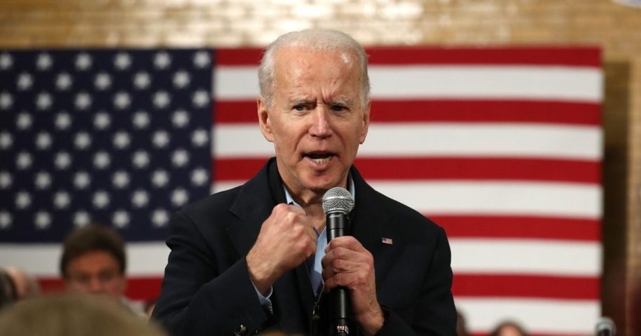 Former Vice President Joe Biden, now the presumptive Democratic presidential nominee, speaks during a campaign event on Feb. 1, 2020, in Cedar Rapids, Iowa.