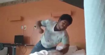 A 20-year-old care home resident beats up a 75-year-old fellow resident.
