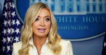 White House press secretary Kayleigh McEnany speaks to the media on May 22, 2020, in the Brady Briefing Room of the White House in Washington, D.C.