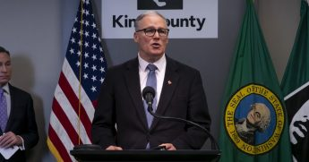 Washington Gov. Jay Inslee addresses the media during a news conference March 16 in Seattle.