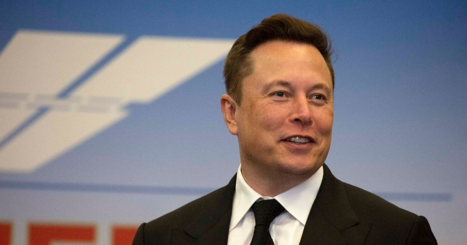 Elon Musk, the founder and CEO of SpaceX, participates in a media conference at the Kennedy Space Center on May 27, 2020, in Cape Canaveral, Florida.