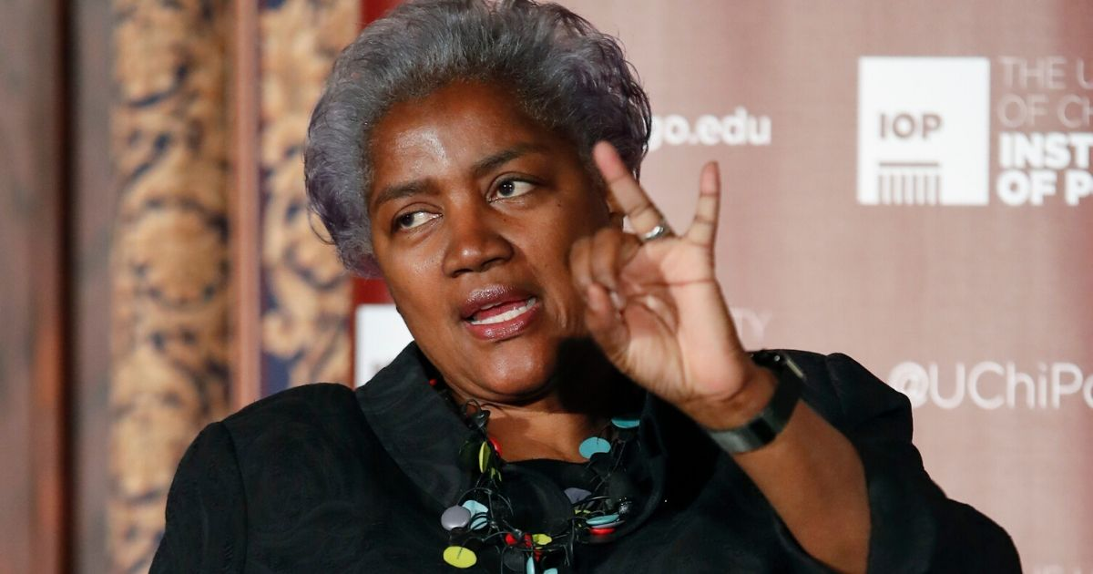FormerDemocratic National Committee Chairwoman Donna Brazile is pictured speaking in a 2017 file photo.