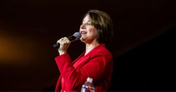 Democratic Sen. Amy Klobuchar of Minnesota speaks during a campaign rally at the Altria Theatre on Feb. 29, 2020, in Richmond, Virginia.