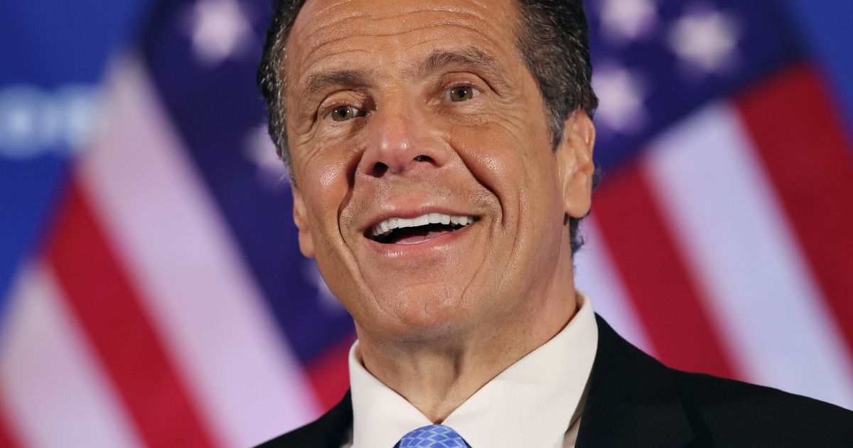 New York Gov. Andrew Cuomo holds a news conference at the National Press Club on May 27, 2020, in Washington, D.C.