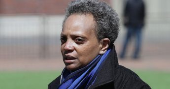 Chicago Mayor Lori Lightfoot, pictured in an April file photo.