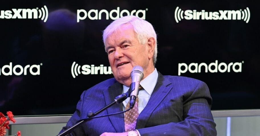 Former Speaker of the House Newt Gingrich visits SiriusXM's The Catholic Channel at SiriusXM Studios on Oct. 22, 2019, in New York City.