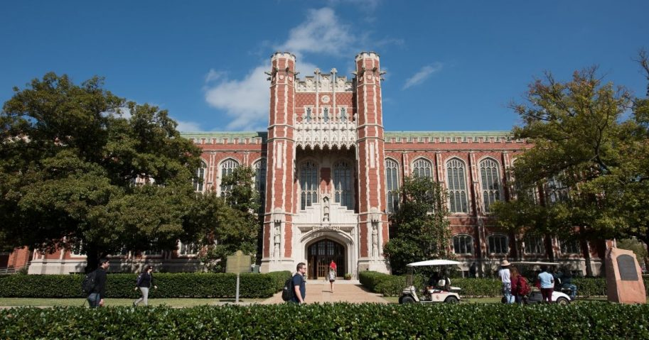 The Bizzell Memorial Library on the campus of the University of Oklahoma in Norman, Oklahoma.