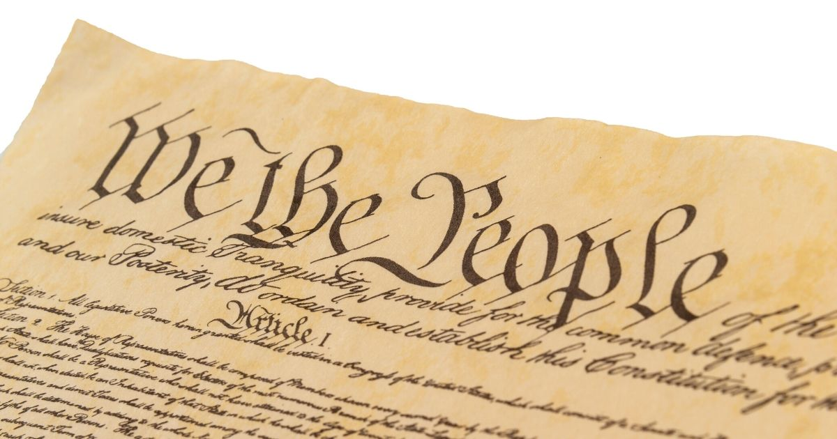 Stock image of the U.S. Constitution.