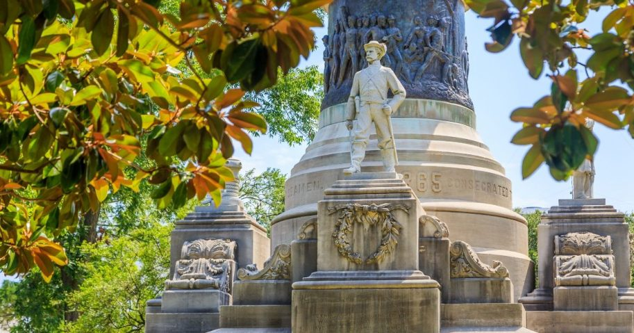 The Confederate soldiers memorial at the Alabama state Capitol.