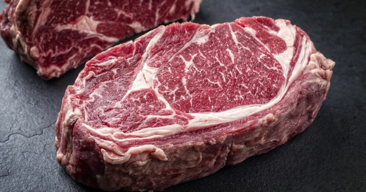 Wagyu beef steaks are seen in the image above.