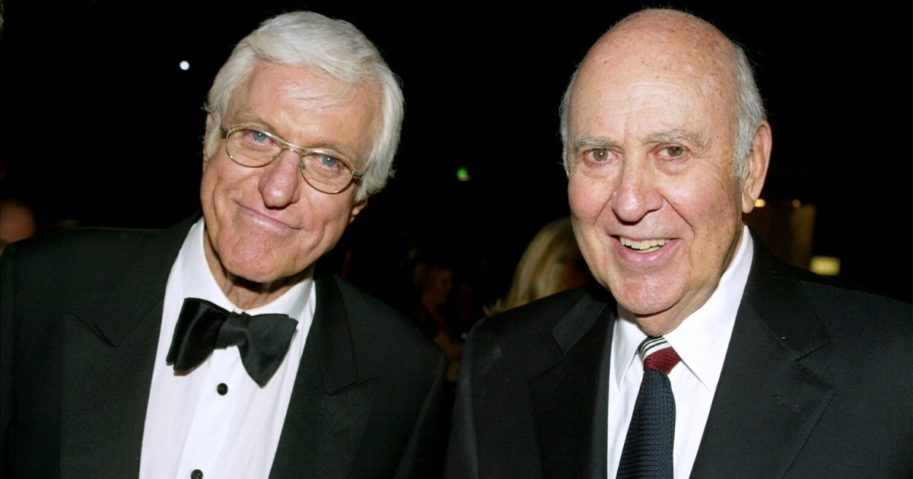 Actors Dick Van Dyke, left, and Carl Reiner pose during the TV Land Awards 2003 at the Hollywood Palladium on March 2, 2003, in Hollywood, California.