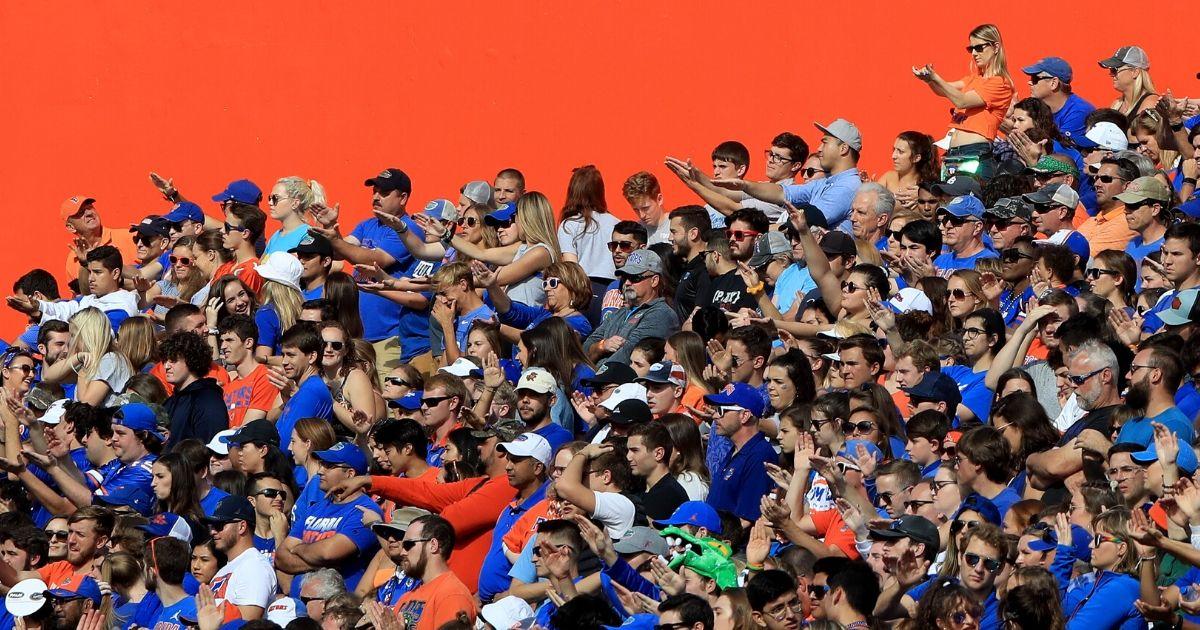 Florida fans cheer during the Gators' 56-0 victory over Vanderbilt at Ben Hill Griffin Stadium in Gainesville on Nov. 9, 2019.