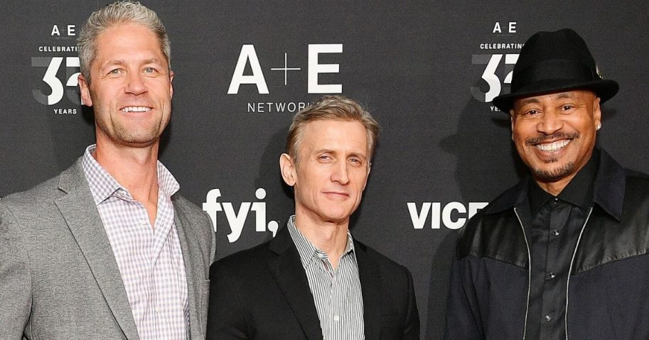 """Live PD"" hosts Sgt. Sean Larkin, Dan Abrams and Tom Morris Jr. attend an A&E network event at Lincoln Center in New York City on March 27, 2019."