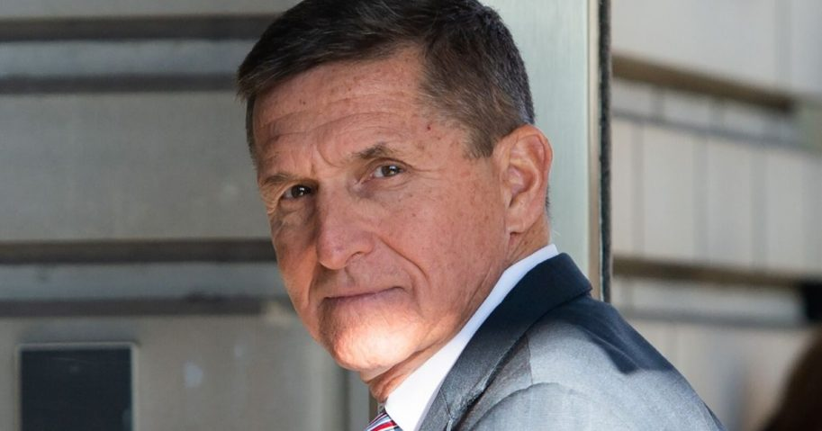 Former National Security Advisor Michael Flynn arrives for his sentencing hearing at U.S. District Court in Washington on Dec. 18, 2018.