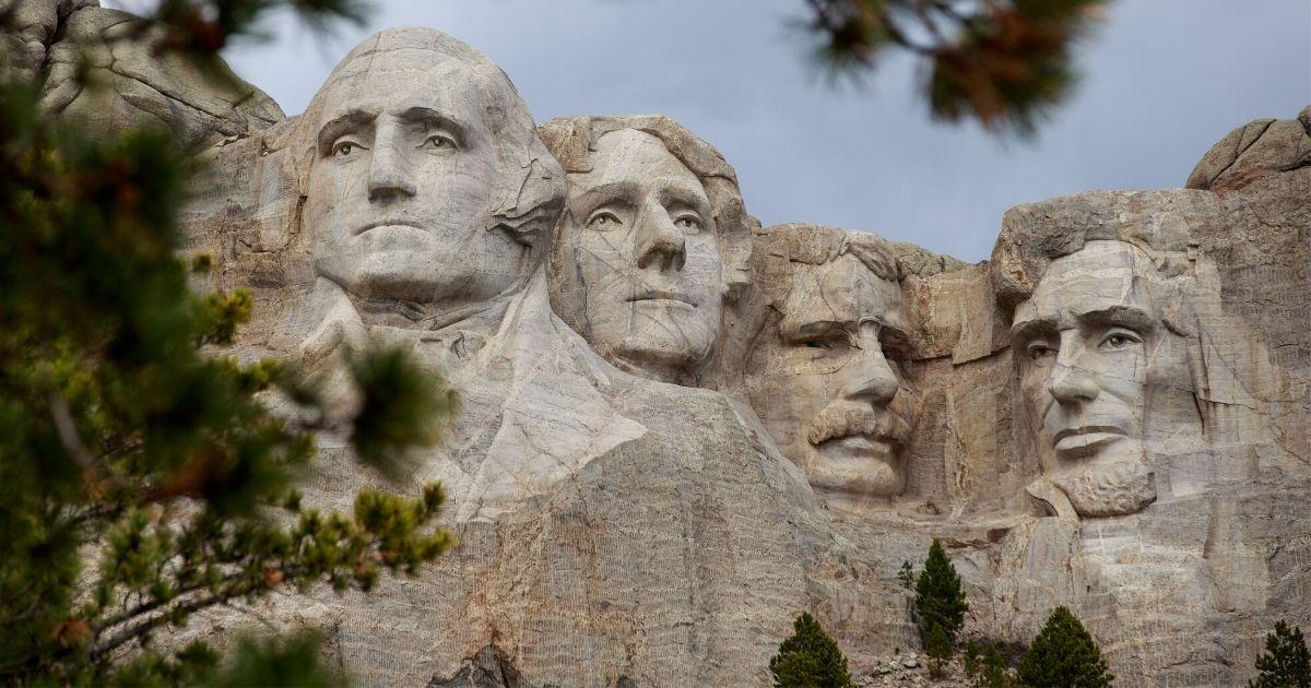 Mount Rushmore National Memorial is seen April 23, 2020, in Keystone, South Dakota