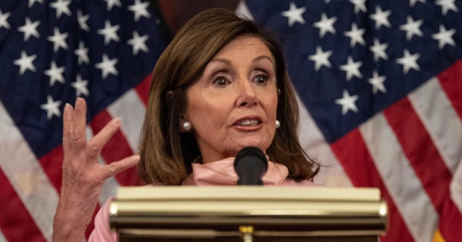House Speaker Nancy Pelosi speaks at the U.S. Capitol in Washington, D.C., on June 18, 2020.