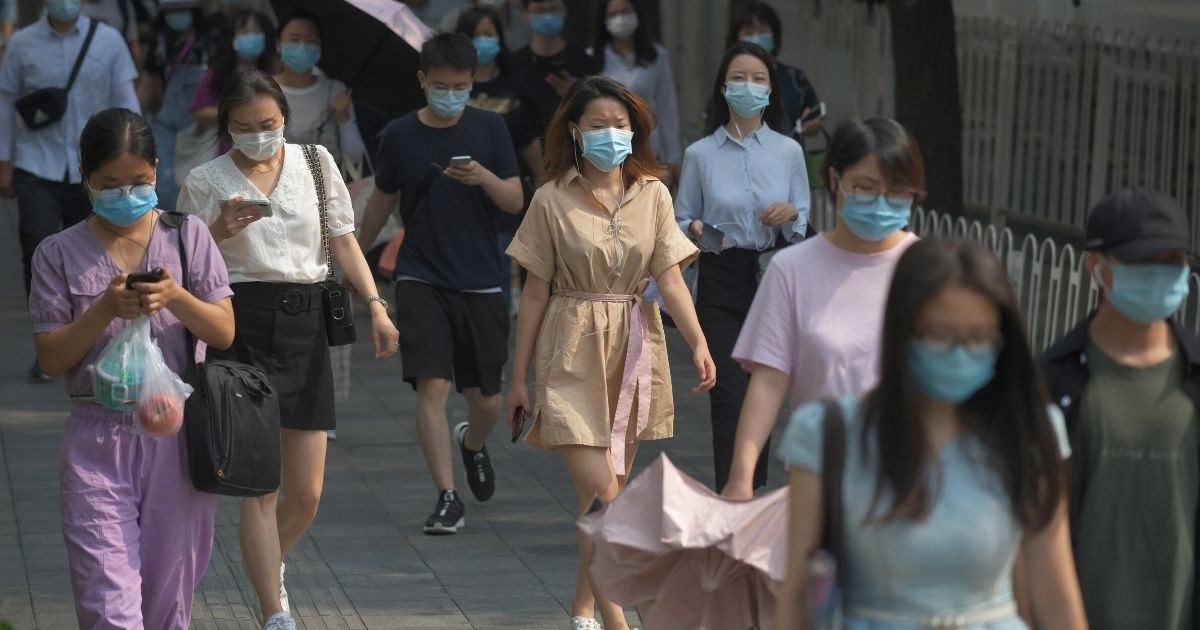 People wearing masks in China.'